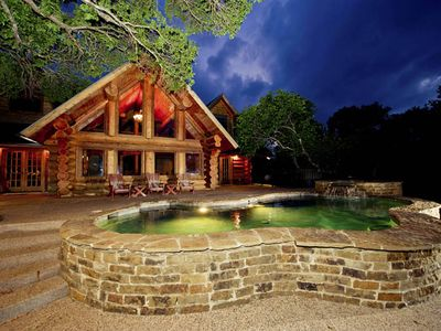 Photo for Four bedroom/with loft - 3 ½ bath log home - 3266 sq ft. Sleeps 15 people.