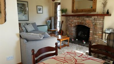 Cosy gas fireplace
