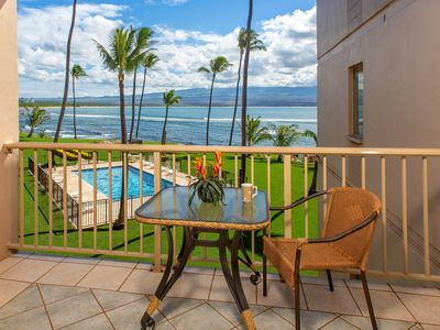 Photo for Oceanfront condo w/ shared pool & balcony - walk to dining, activities, and more