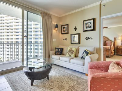 Photo for Luxury condo at the beach with LARGE private balcony and RESERVED parking!