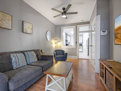 Photo for Urban + Cozy 1BR - Free Parking & 15min to NYC