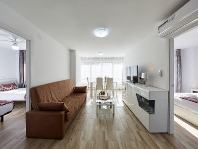 Photo for Deluxe Sea View Apartment in Benidorm, 3 min to the beach, 2 bedrooms