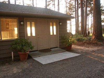 Photo for Hideaway Hut is Cozy, with Water View, Pvt. Beach Between Sequim & Port Angeles