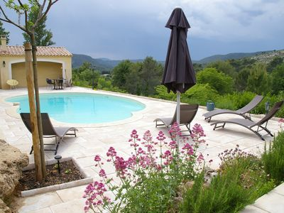 Photo for Provencal villa with pool and superb views