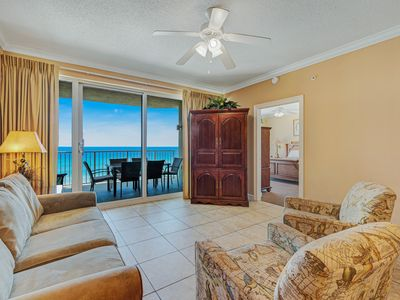 Photo for 7th floor Gulf front condo w/ shared pool, hot tubs, & private beach!