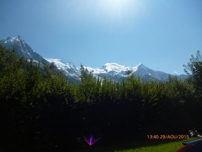 Photo for Studio where garden level one can observe the Mont Blanc