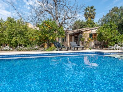 Photo for Rustic Home with Romantic Yard and Pool - Finca Ca'n Vaqueta