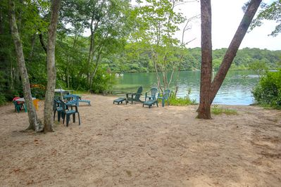 Beautiful large private beach on Sheep's Pond