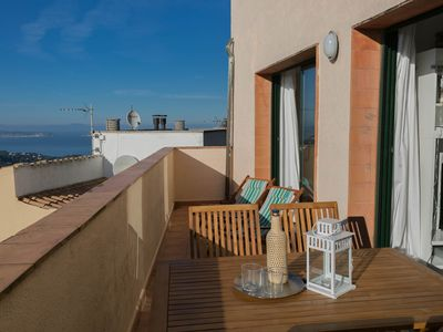 Photo for 2 bedroom apartment in Begur center Sea views terrace pool (Ref:H03)