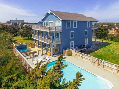 Recent Upgrades! Oceanview, Salvo w/ Pool, Hot Tub, Game Room, Dog-Friendly