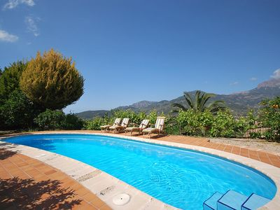 Photo for Cozy mountain cottage with pool in the mountains of Sóller