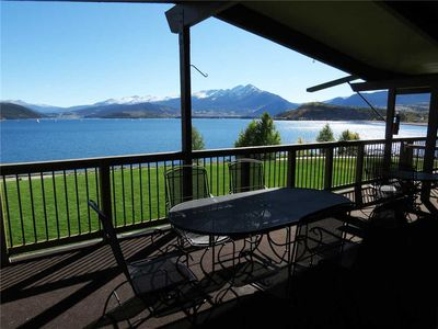 Photo for On Lake Dillon-Top Floor Mountain, Lake Views. Covered Deck, Elevator, Hot Tub, Near Amphitheater
