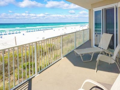 Photo for ☀Grandview East 101☀ 3BR BeachFRONT for 11! Aug 25 to 27 $808 Total! Gulf Views