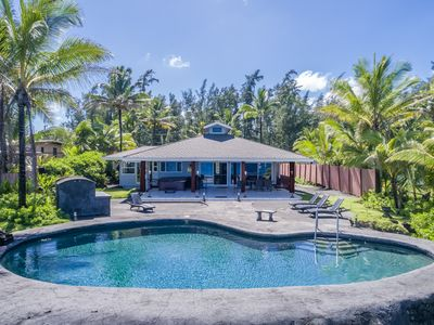 Photo for Hilo Shangrila OCEANFRONT, salt water pool, hot tub and gated, private home!