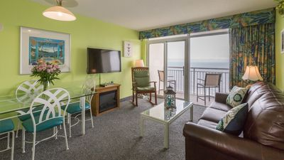 Photo for Oceanfront Suite with Full Kitchen + Private Balcony | 3 Pools On-Site