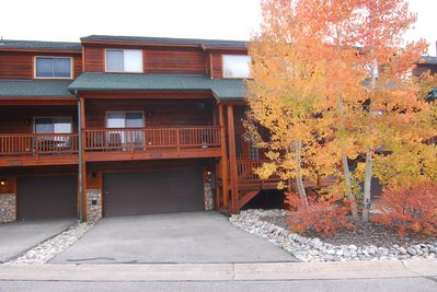 Three level townhome, two car heated garage  secure ski, board bike storage.