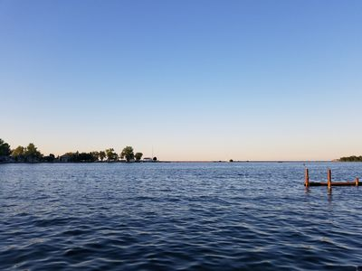perfect view of the pier and sandbar from the dock