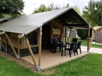 Photo for Camping Audinac Les Bains *** - Tent Lodge 3 rooms 5 people