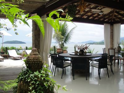 Photo for Beautiful House With Private Beach On Island
