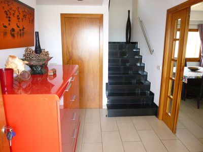 The entrance hall, turn left to 3 bedrooms, up the marble staircase to the 4th