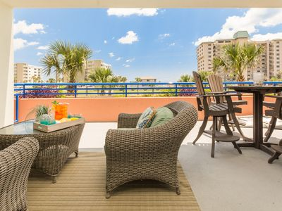 Photo for Enjoy views of the ocean from this brand new, tastefully decorated 3/2 Ocean Walk Condo 18-204