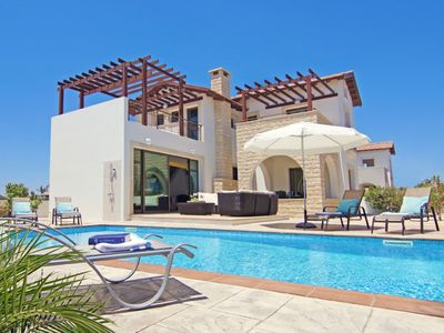 Photo for Brand New 3 Bedroom Villa with A/C, Private Pool located in the Peaceful Area of  Ayia Thekla!