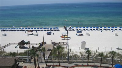 Beautiful central view of the Gulf unit 714!   Photo From Our Balcony!