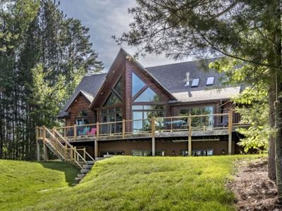 Photo for Grand Getaway - New Luxury Family Friendly Home Listing on Rest Lake!