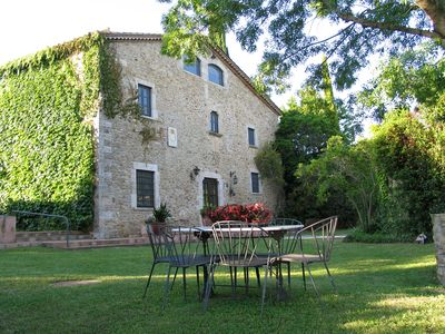 Photo for Great spacious and comfortable masia, 4200m2 garden, private pool, barbecue Wifi