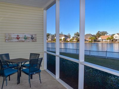 Photo for May and June specials!  15% off remaining weeks.  10% off nightly rates (3 night minimum).3 bedroom, 2 bath condo. Lake view. Sleeps 10. Walking distance to beach. WIFI, washer/dryer, on-site parking, outdoor pool, jacuzzi, fitness room. No pets.  No motorcycles.