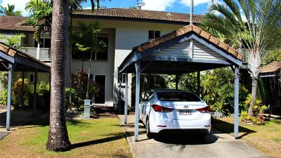villa 105 front, large carport