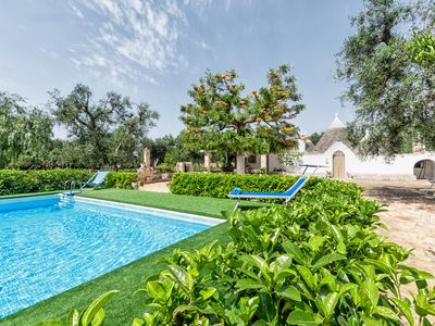Photo for Trullo Vitale with swimming pool