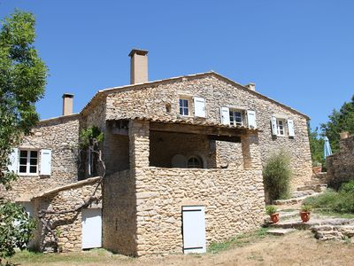 Photo for Large gite with swimming pool in superb Mas Provencal 2km from the village of Banon