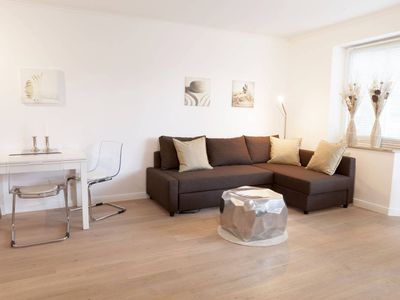 Photo for New, high-quality studio with combined living room / bedroom for 2-3 pers., Terrace, very close to the beach, elevator, WiFi, underground parking!
