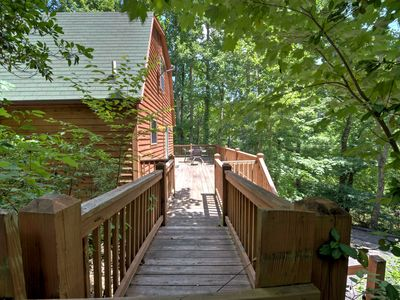 Photo for Black Bear Cabin - A cozy cabin with a hot tub! Includes Biltmore!