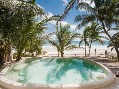 Photo for Beachfront huge villa for 44 guests in Tulum