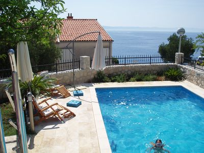 Photo for Peaceful Nice Villa, Near Beach, Private Pool, Sea View, Family Friendly
