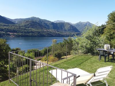 Photo for LAKE ORTA - APARTMENT LAKE VIEW, BEACH, PRIVATE GARDEN (GROUND FLOOR)