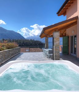 Photo for Comacina lake view private Villa family sleeps 14 guests with featuring hot tub