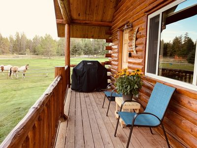 Photo for Beautiful pond front cabin, rural setting, but very centrally located