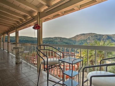 Photo for Hilltop Valley Center House w/Balcony & Mtn Views!