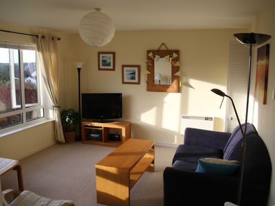 Photo for Lovely 2 bedroom apartment very close to Crooklets Beach in Bude