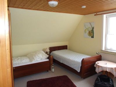 """Photo for . Double room # 9 with 2 single beds - Pension """"Bed & Breakfast behind the North Sea dyke"""""""