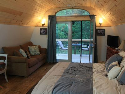 """Photo for Relax in an Extremely Cozy """"Guesthouse On The Creek"""" Only 17 Mins To Asheville"""