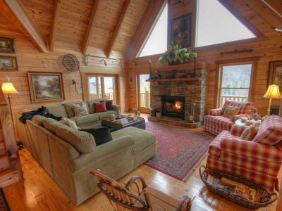 Photo for 3BR Cabin, Minutes to Boone, Hot Tub, Pool Table, Fire Pit, Views, Granite, Stainless, Fireplace