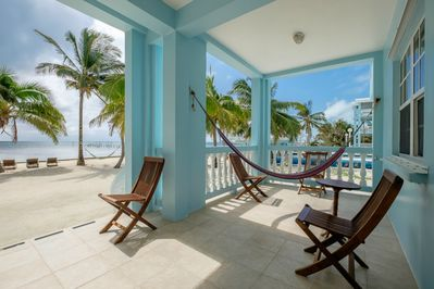 Veranda with chairs and a hammock for your comfort