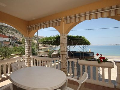 Photo for One bedroom apartment near beach Metajna, Pag (A-6497-a)
