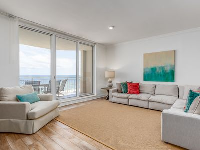 Photo for 6th Floor Comfortable Beachfront Condo, Quick Walk To Dining