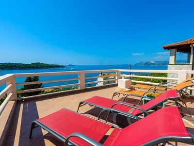 Photo for 4 - Bedroom Panoramic Sea View Villa situated 100m from pebble beach