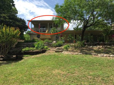 Photo for Riverfront Loft Apt in Downtown Kerrville at the Park